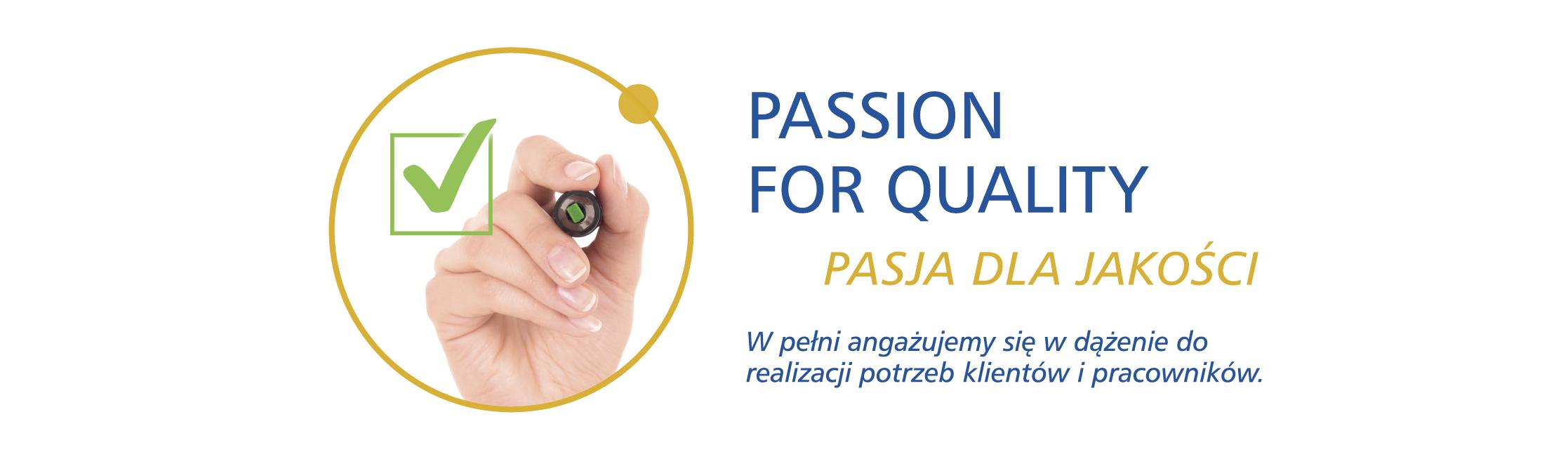 pasja dla jakości